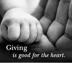 giving - good for the heart